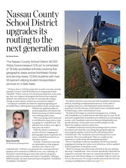 Nassau County School District Upgrades its Routing to the Next Generation